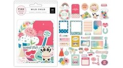 Die Cuts Pink Paislee  -  Wild Child girl - comprar online