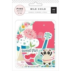 Die Cuts Pink Paislee  -  Wild Child girl