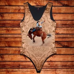 Body Feminino Cavalo e Cowboy Country