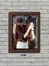 Quadro Decorativo Cowgirl e Cavalo Country