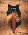 Body Feminino Estampa Country Cavalo Lateral C1423