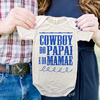 Body de Bebês Cowboy do Papai Azul Country