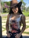 Body Feminino Country Cavalo Girassol