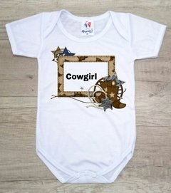 Body de Bebês Cowgirl Escrito Botas Country