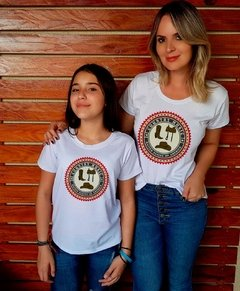 Camiseta Mãe e Filha Country Music Logo Country