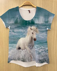 Camiseta Cavalo Fundo do Mar