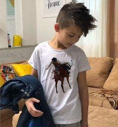 CAMISETA INFANTIL MASCULINA ( ESTAMPA COUNTRY)