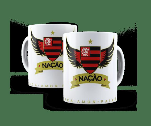Caneca personalizada time de futebol Flamengo cec3bc9d9ceb3