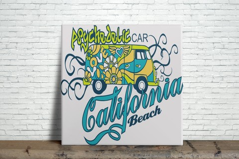 Azulejo Decorativo - California Beach
