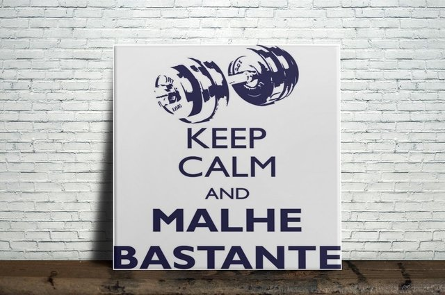 Azulejo Decorativo Keep Calm and Malhe Bastante