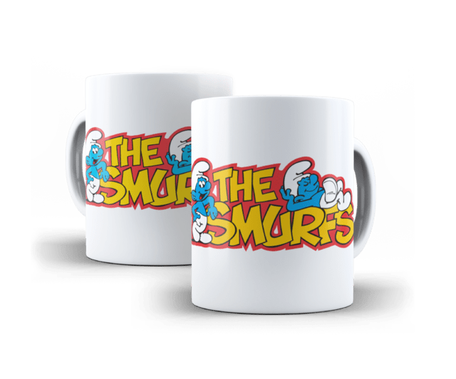 Caneca Porcela Infantil - The Smurfs
