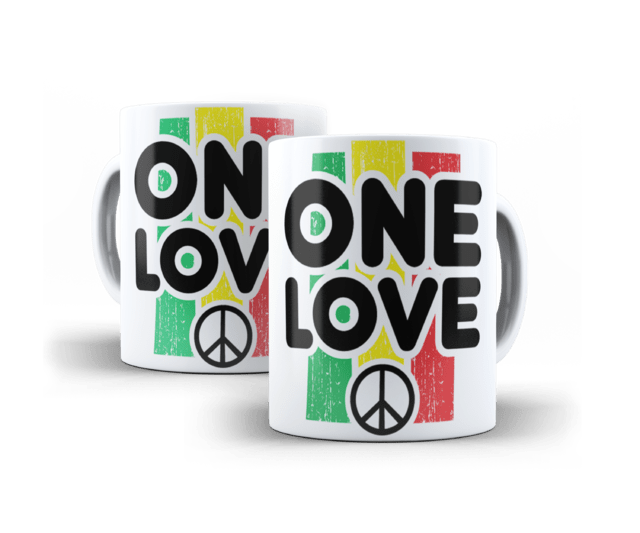Caneca Porcela Infantil - One Love
