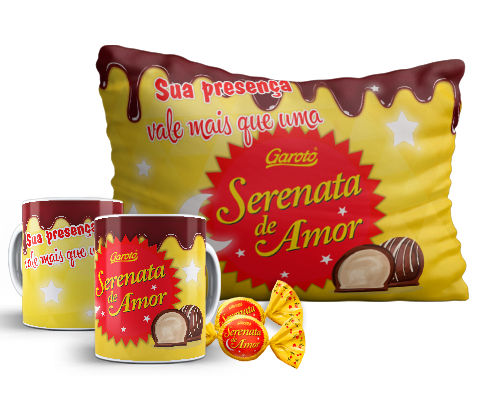 Kit de Páscoa Chocolate Serenata de Amor