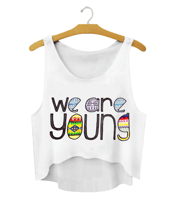 CROPPED PERSONALIZADO PARA O CARNAVAL  - WE ARE YOUNG