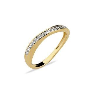 Moda feminina anel semi joia zircônias aparador brancas - Multiplace b43eb11528