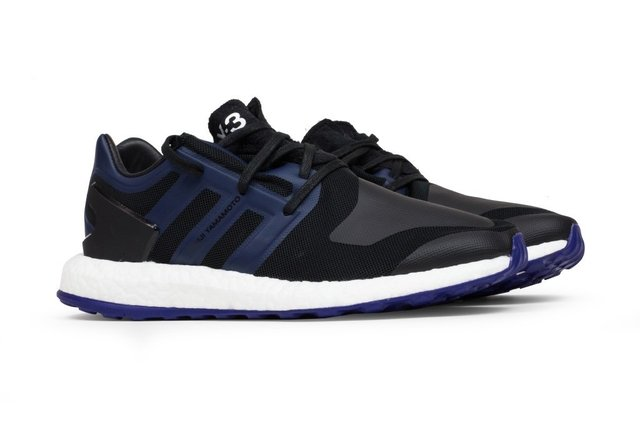 Y-3 Pure Boost Tries Black And Blue