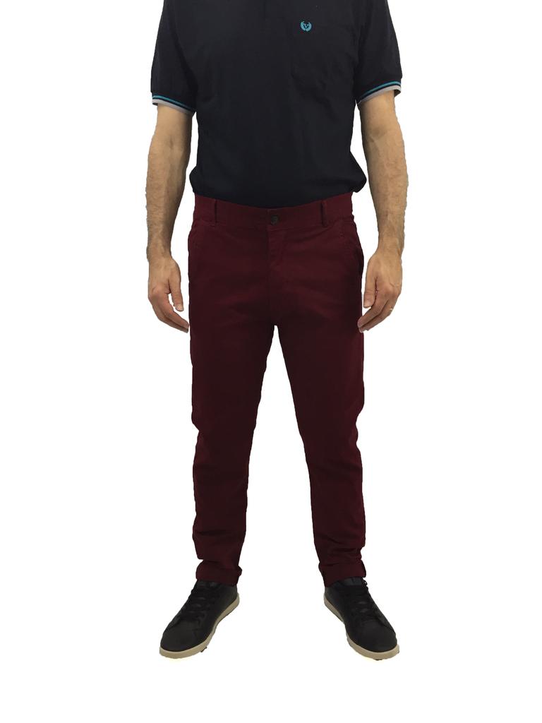 calça chino masculina bolso faca em sarja com elastano slim fit vinho 5701 f8f64efeea