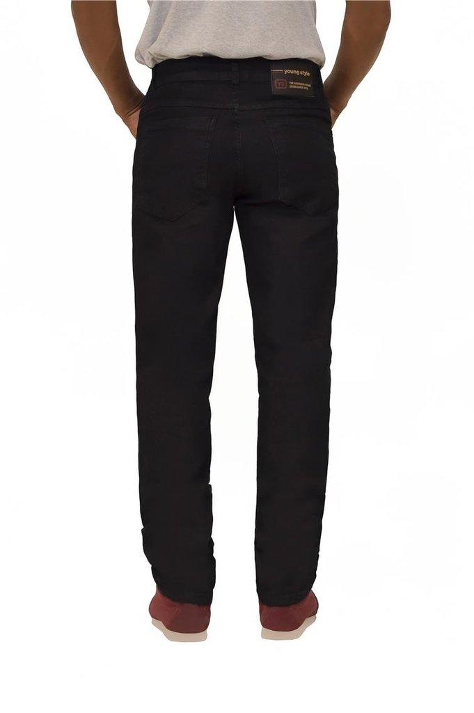 cc862419f7 calça jeans masculina básica reta tradicional escura black jeans youngstyle  4102