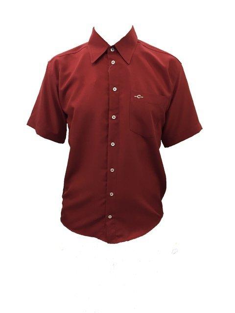 9e3838f063 camisa social masculina microfibra manga curta microfibra plus size vermelho