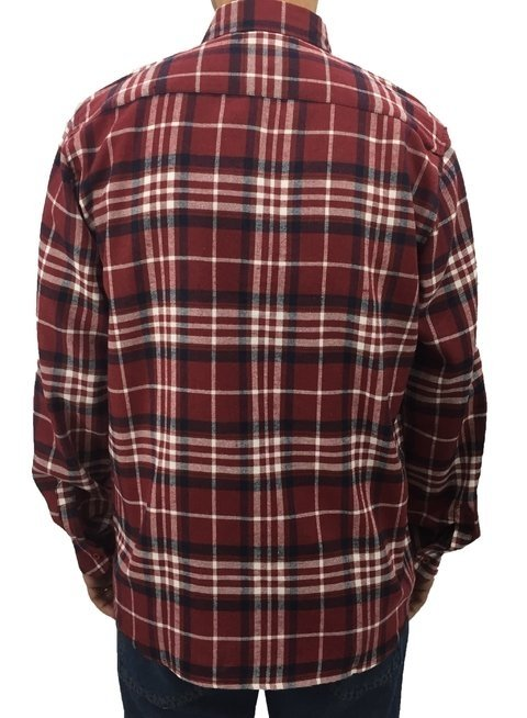 09e17af6ec camisa masculina manga longa flanela com bolso xadrez plus size G1 ao G4  vermelha 27272