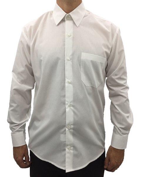 0b6937a114 camisa social masculina manga longa com bolso básica algodão branca