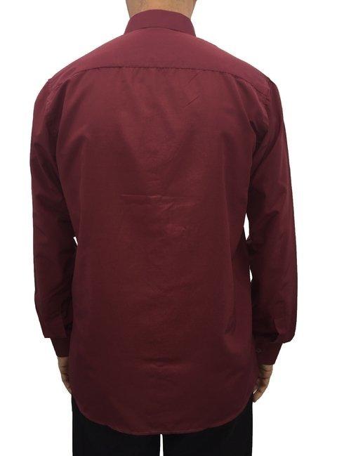 d73b6a5165 camisa social manga longa masculina com bolso básica vinho