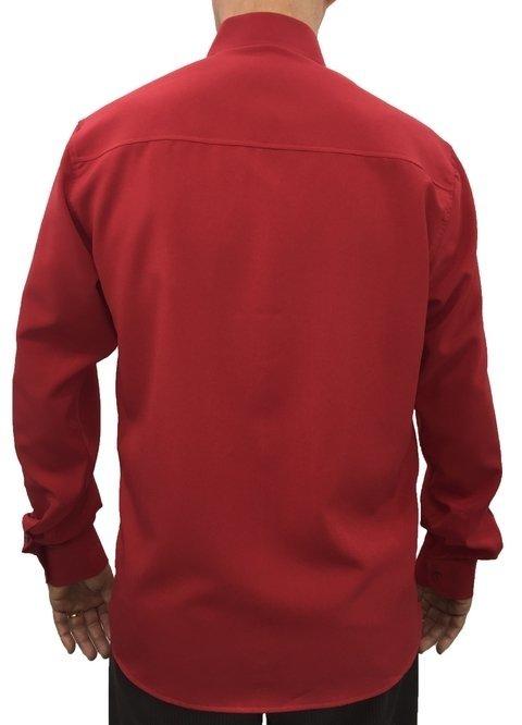 301408f99e camisa social masculina manga longa com bolso microfibra vermelha