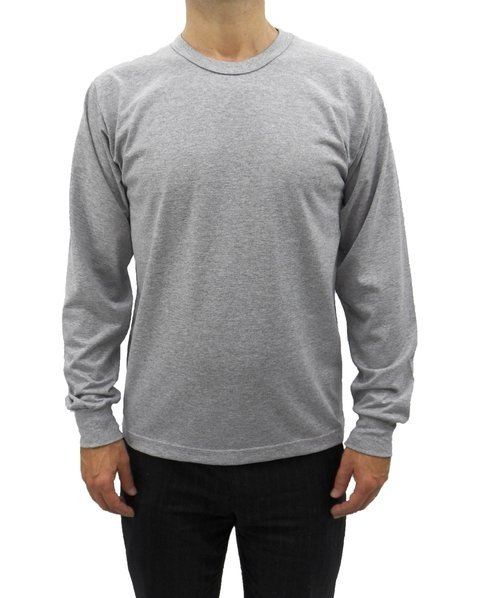 c69c9ca5b camiseta masculina manga longa básica lisa com punho sanfonado cinza mescla