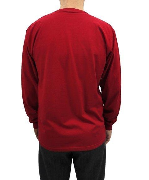 668152a76 camiseta masculina manga longa básica lisa com punho sanfonado vermelha
