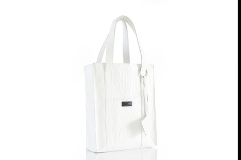 Cartera Cambridge blanca