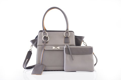 Cartera Oxford Gris