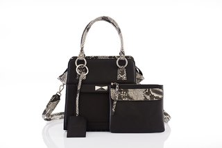 Cartera Oxford Print y Negra