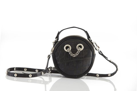 Mini Cartera Margarete Crocco Negro