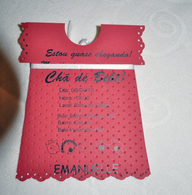 Convite EMANUELLE - 20 UNIDADES - lembrancinhas personalizadas Gifts for a Special Occasion