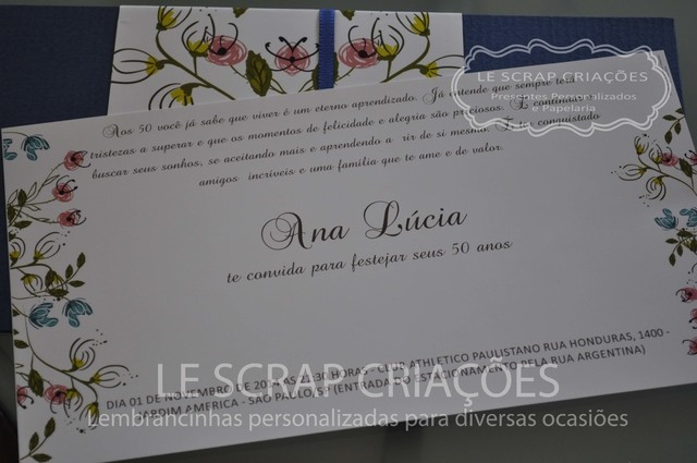 CONVITE ANA LUCIA - 25 UNIDADES - lembrancinhas personalizadas Gifts for a Special Occasion