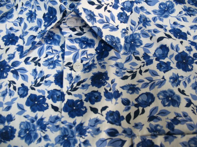 Camisa Blue Flowers na internet