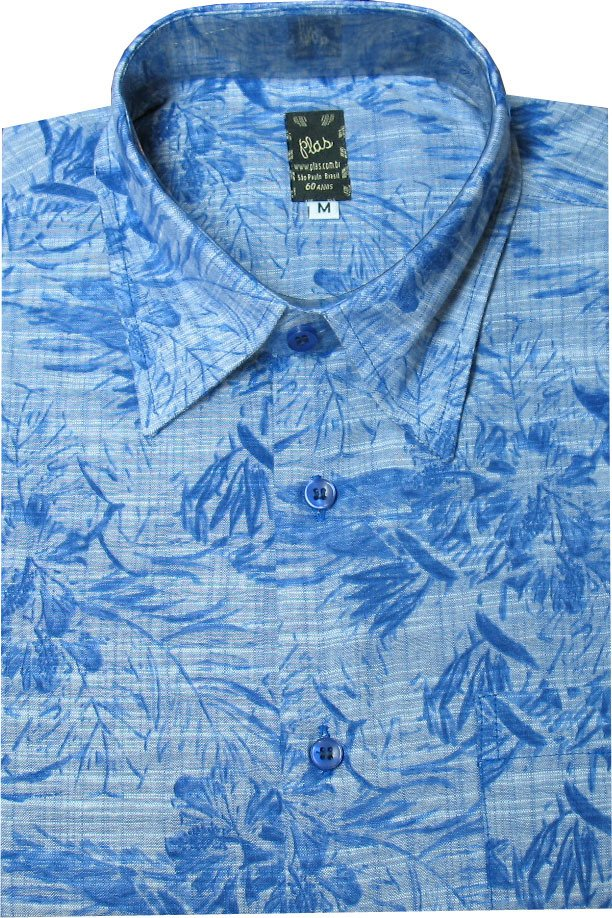Camisa BLue Leaves