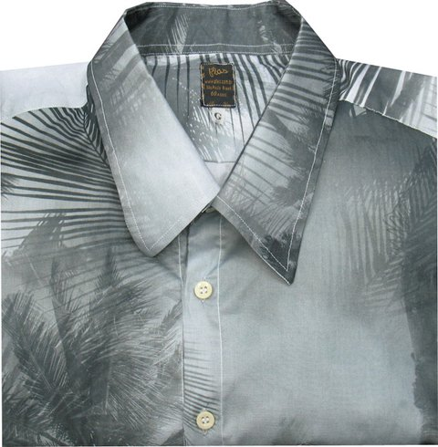Camisa Hawai Black White
