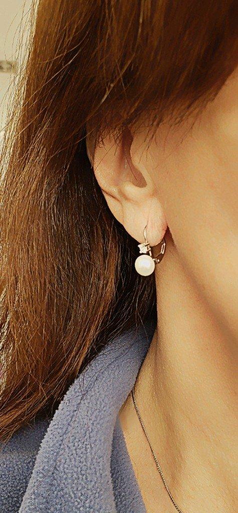 86630ddc3c49 Aros plata 925 italiana con perlas de rio y circon
