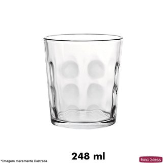 Copo Bubble Baixo 248 ml - Euro Glass