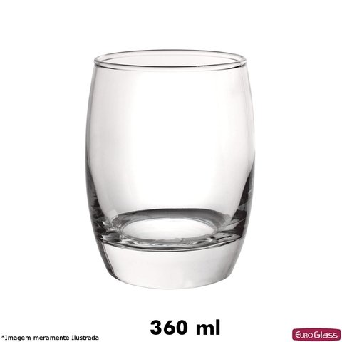 Copo Seatle Baixo 360 ml - Euro Glass