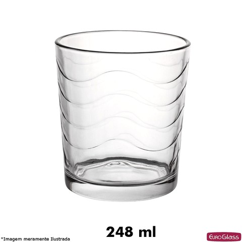 Copo Wave Baixo 248 ml - Euro Glass