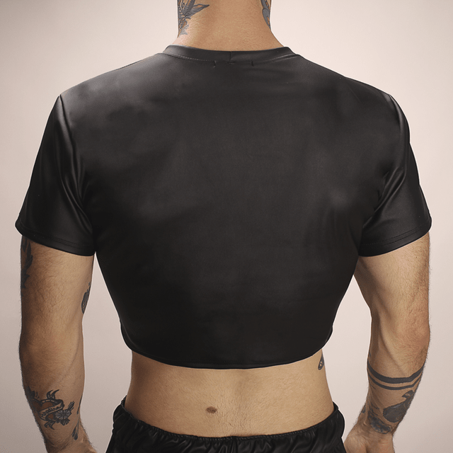 Cropped Couro - comprar online