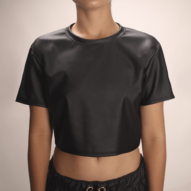 Cropped Couro - loja online