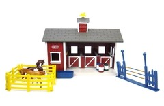 Kit Stablemates Cocheira Red Stable Set - Breyer na internet