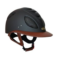 CAPACETE GPA FIRST LADY LEATHER 2X PRETO E CHOCOLATE
