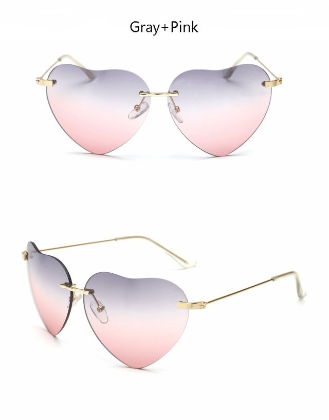 ... Óculos de Sol Feminino Formato Coração - Luxo 2016 2017 - comprar  online ... cc9fd2dd81