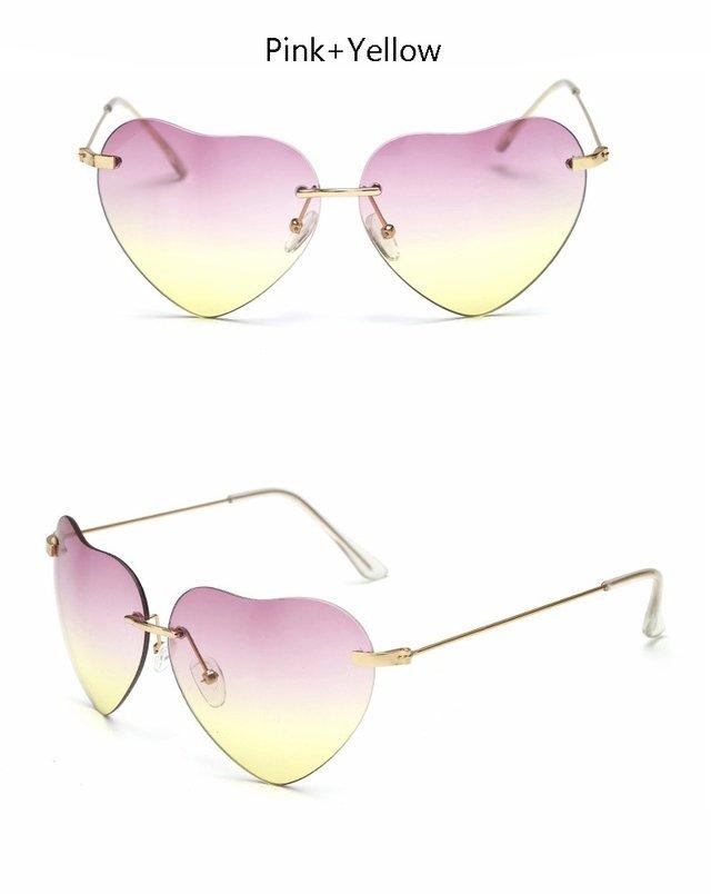 ... Óculos de Sol Feminino Formato Coração - Luxo 2016 2017 - loja online  ... ead647c885