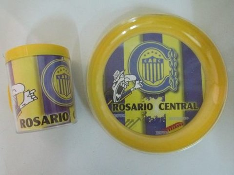 Rosario Central  Taza+ Plato Plastico Doble Pared- Caballito