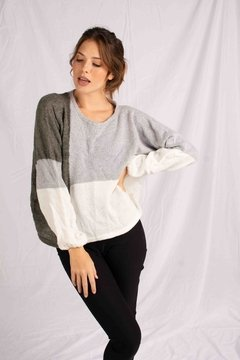 SWEATER GOLFO GRIS